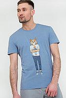 Футболка мужская Finn Flare, цвет голубой, размер 3XL