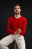 Джемпер мужской Finn Flare, цвет красный, размер 2XL
