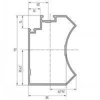 Профиль поворотный алюминиевый экструдированный AYPC.111.0302