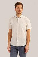 Рубашка мужская Finn Flare, цвет светло бежевый, размер 4XL