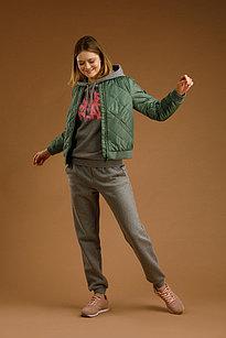 Куртка женская Finn Flare, цвет темно-зеленый, размер 2XL