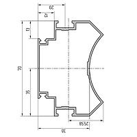 Профиль поворотный алюминиевый экструдированный AYPC.111.0303