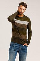 Джемпер мужской Finn Flare, цвет темно-коричневый, размер 2XL
