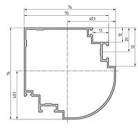 Профиль угловой поворотный алюминиевый экструдированный AYPC.111.0304
