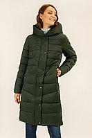 Пальто женское Finn Flare, цвет темно-зеленый, размер XL