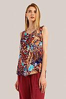 Блузка женская Finn Flare, цвет темно-коричневый, размер S