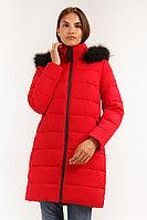 Пальто женское Finn Flare, цвет красный, размер L