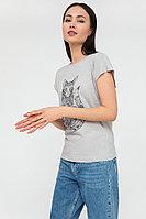 Футболка женская Finn Flare, цвет светло-серый, размер M