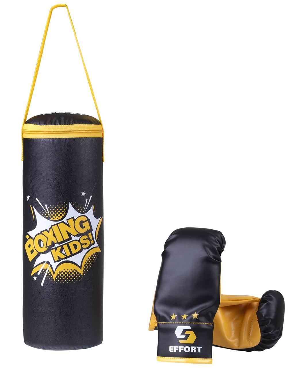 Набор для бокса E1455, кожзам, черный Effort