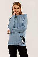Джемпер женский Finn Flare, цвет серо-голубой, размер XS