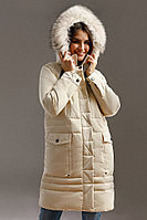Пальто женское Finn Flare, цвет светло-бежевый, размер 2XL