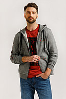 Толстовка мужская Finn Flare, цвет серый, размер 3XL