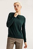 Джемпер женский Finn Flare, цвет темно-зеленый, размер M