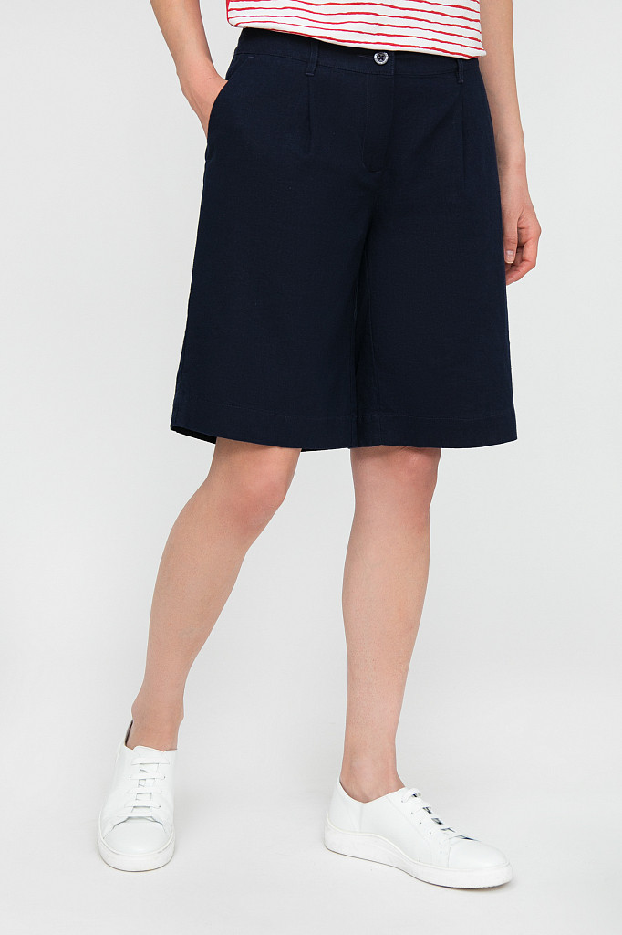 Шорты женские Finn Flare, цвет темно-синий, размер XS - фото 2