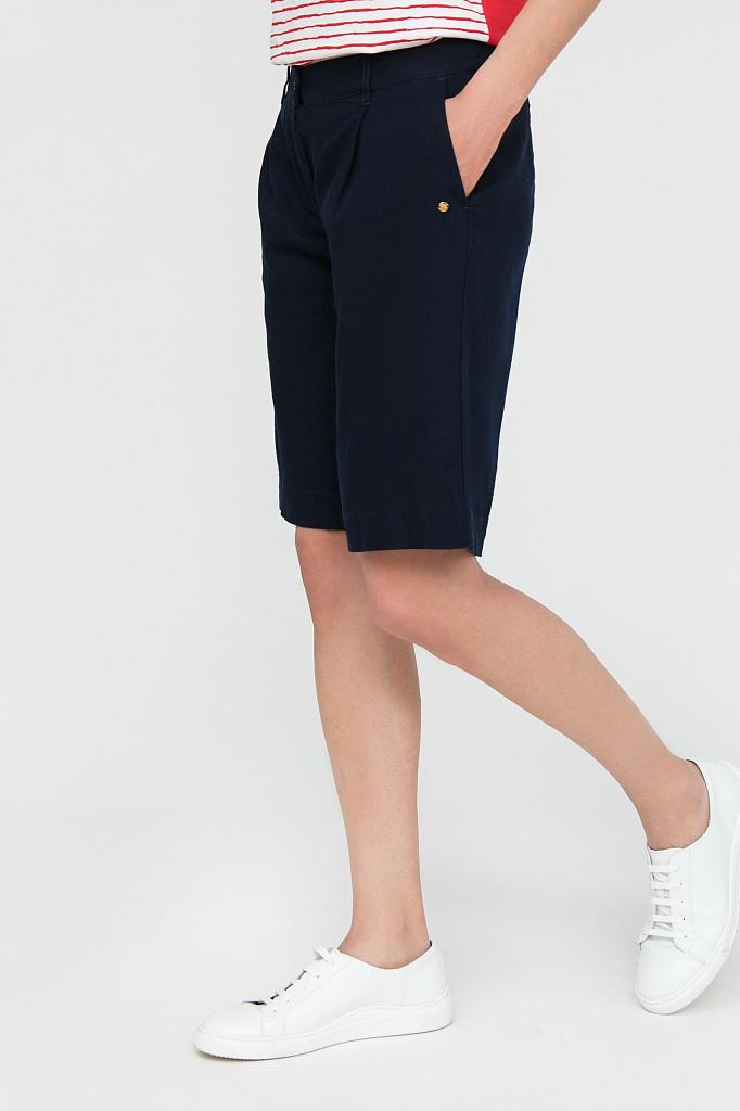 Шорты женские Finn Flare, цвет темно-синий, размер XS - фото 3