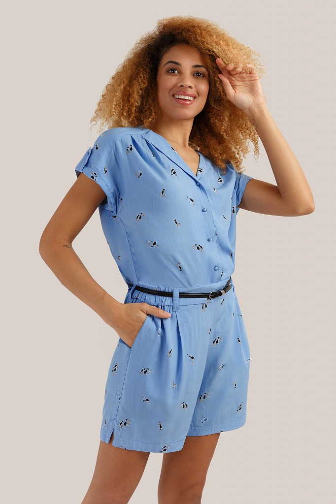 Комбинезон женский Finn Flare, цвет голубой, размер M - фото 1