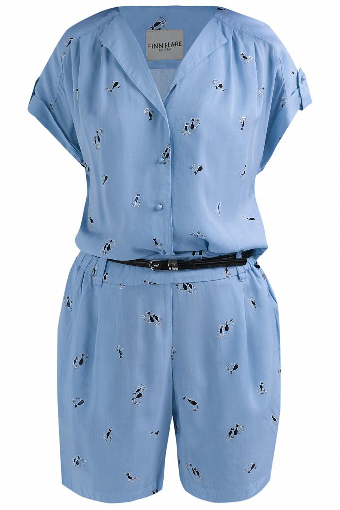 Комбинезон женский Finn Flare, цвет голубой, размер M - фото 5