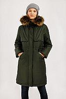 Пальто женское Finn Flare, цвет темно-зеленый, размер XS