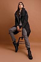 Пальто женское Finn Flare, цвет черный, размер 2XL