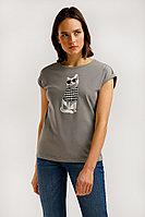 Футболка женская Finn Flare, цвет серый, размер XL