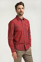 Рубашка мужская Finn Flare, цвет красно-коричневый, размер 3XL