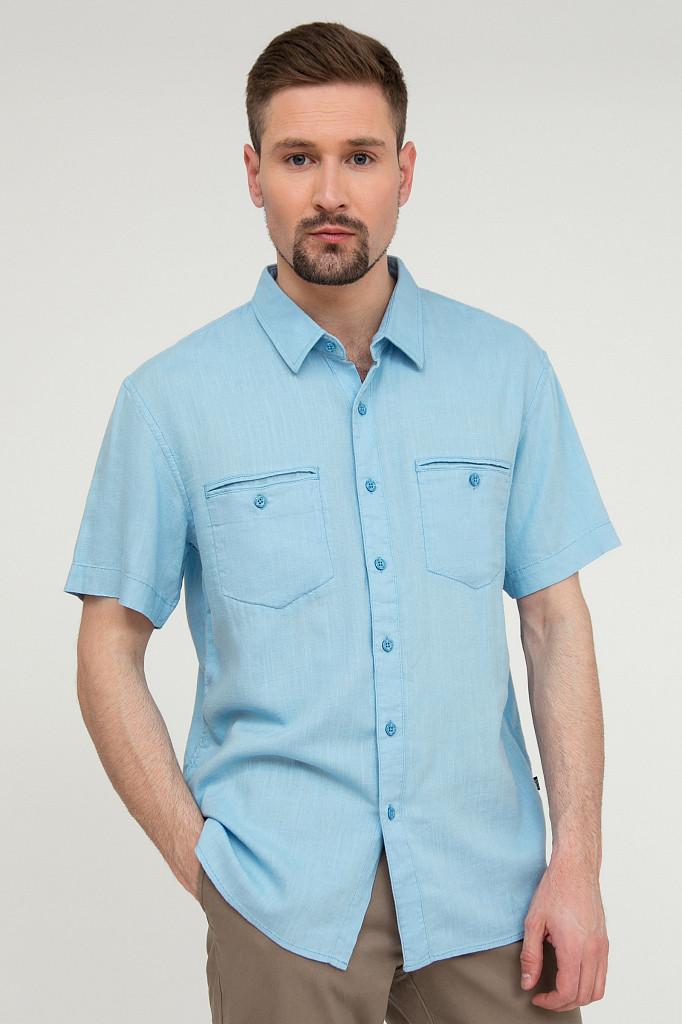 Рубашка мужская Finn Flare, цвет серо-голубой, размер XL - фото 1
