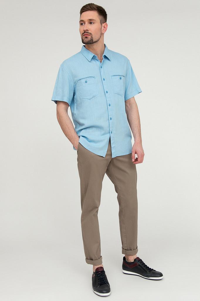 Рубашка мужская Finn Flare, цвет серо-голубой, размер XL - фото 2