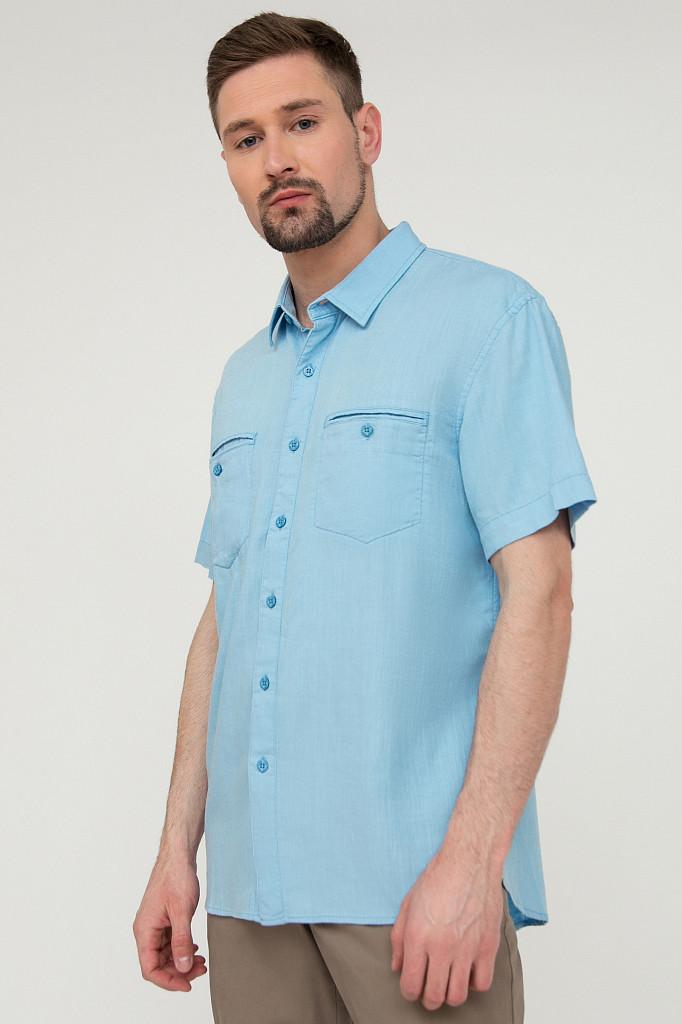 Рубашка мужская Finn Flare, цвет серо-голубой, размер XL - фото 3