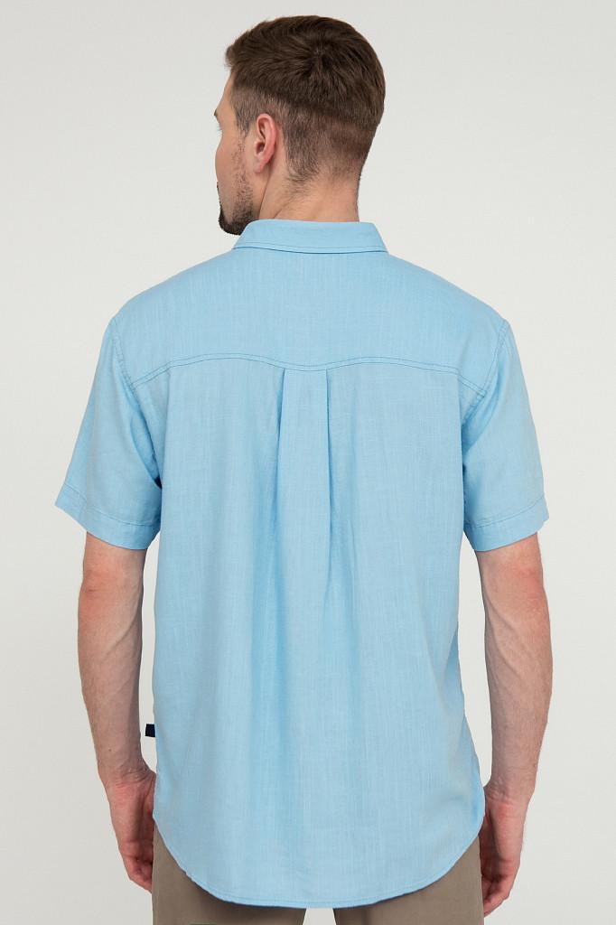 Рубашка мужская Finn Flare, цвет серо-голубой, размер XL - фото 4