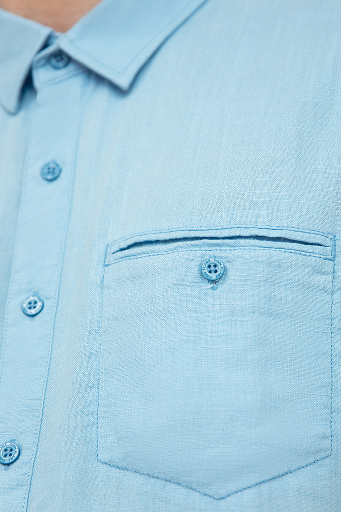Рубашка мужская Finn Flare, цвет серо-голубой, размер XL - фото 5