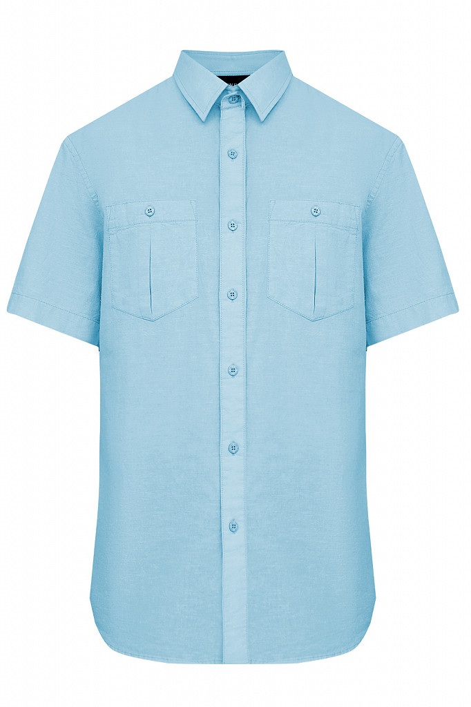 Рубашка мужская Finn Flare, цвет серо-голубой, размер XL - фото 6