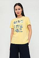 Футболка женская Finn Flare, цвет желтый, размер XL