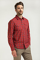 Рубашка мужская Finn Flare, цвет красно-коричневый, размер 5XL