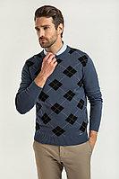 Джемпер мужской Finn Flare, цвет серо-голубой, размер 2XL