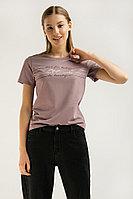 Футболка женская Finn Flare, цвет серо-сиреневый, размер 2XL