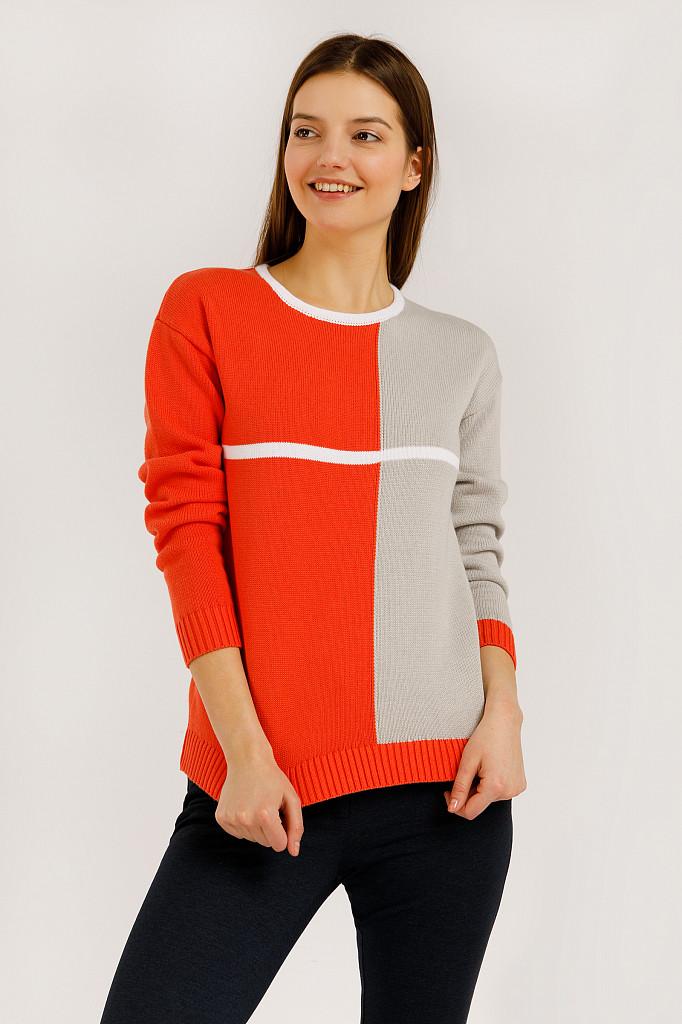 Джемпер женский Finn Flare, цвет оранжевый, размер S - фото 1