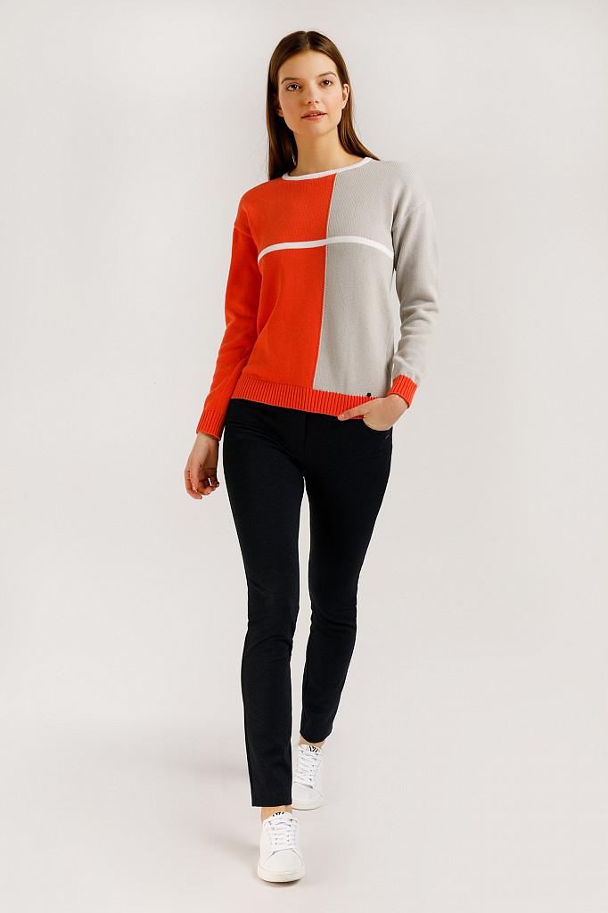 Джемпер женский Finn Flare, цвет оранжевый, размер S - фото 2