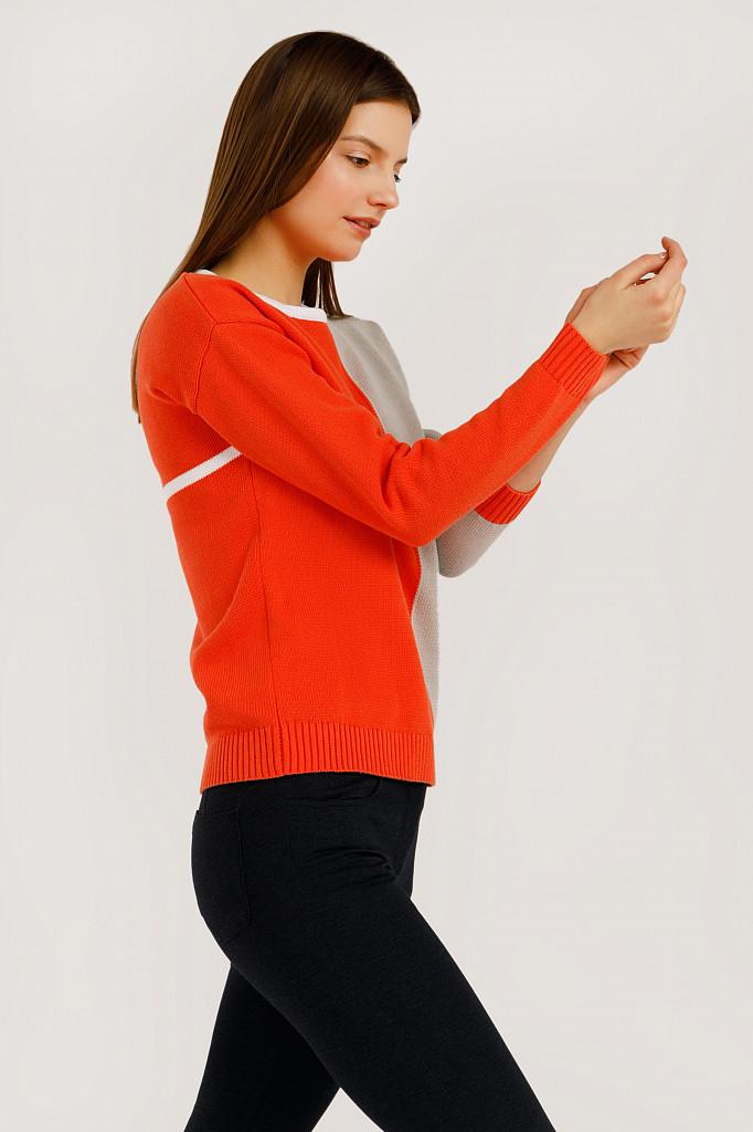 Джемпер женский Finn Flare, цвет оранжевый, размер S - фото 3