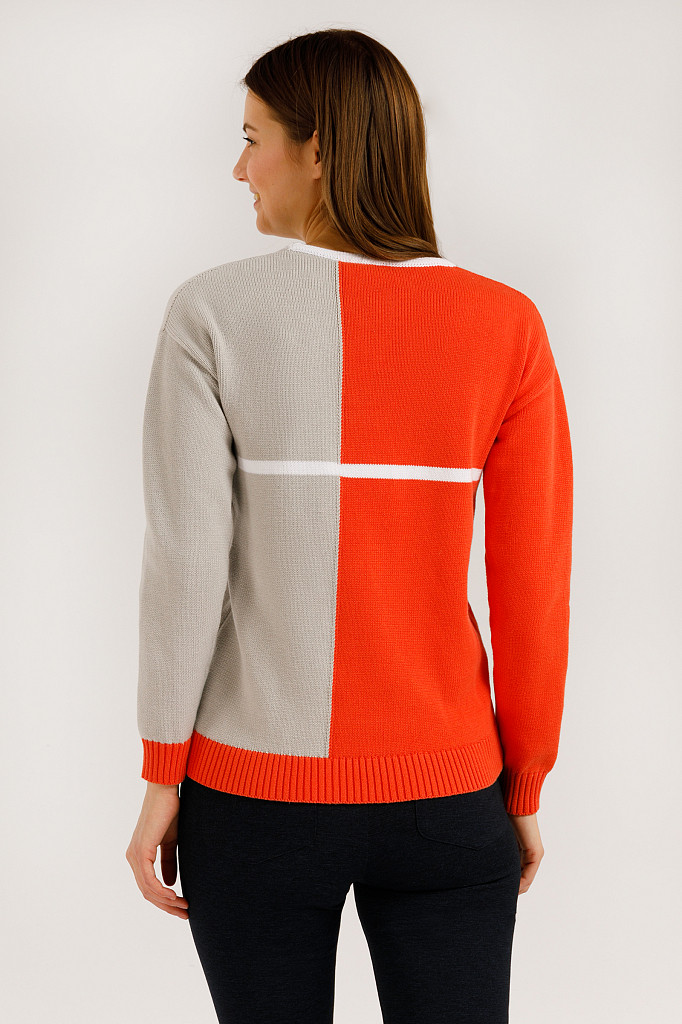Джемпер женский Finn Flare, цвет оранжевый, размер S - фото 4