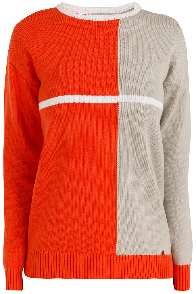 Джемпер женский Finn Flare, цвет оранжевый, размер S - фото 6