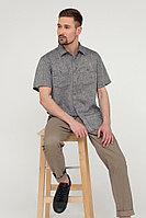 Рубашка мужская Finn Flare, цвет темно-синий, размер 4XL