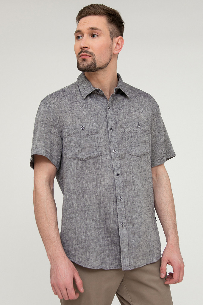 Рубашка мужская Finn Flare, цвет темно-синий, размер 4XL - фото 2