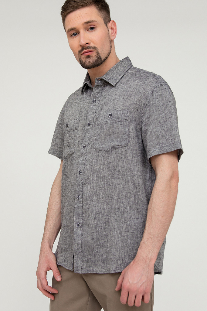 Рубашка мужская Finn Flare, цвет темно-синий, размер 4XL - фото 3