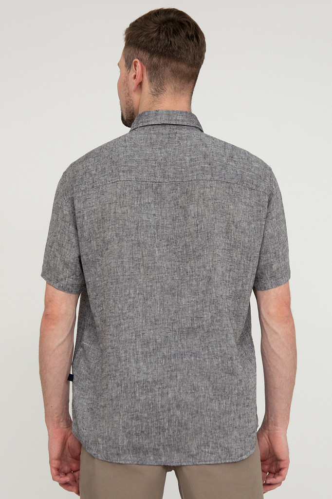 Рубашка мужская Finn Flare, цвет темно-синий, размер 4XL - фото 4