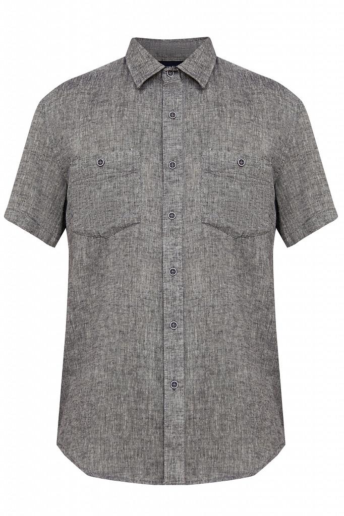 Рубашка мужская Finn Flare, цвет темно-синий, размер 4XL - фото 6