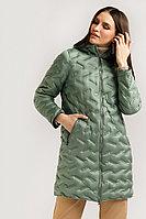 Полупальто женское Finn Flare, цвет темно-зеленый, размер 2XL