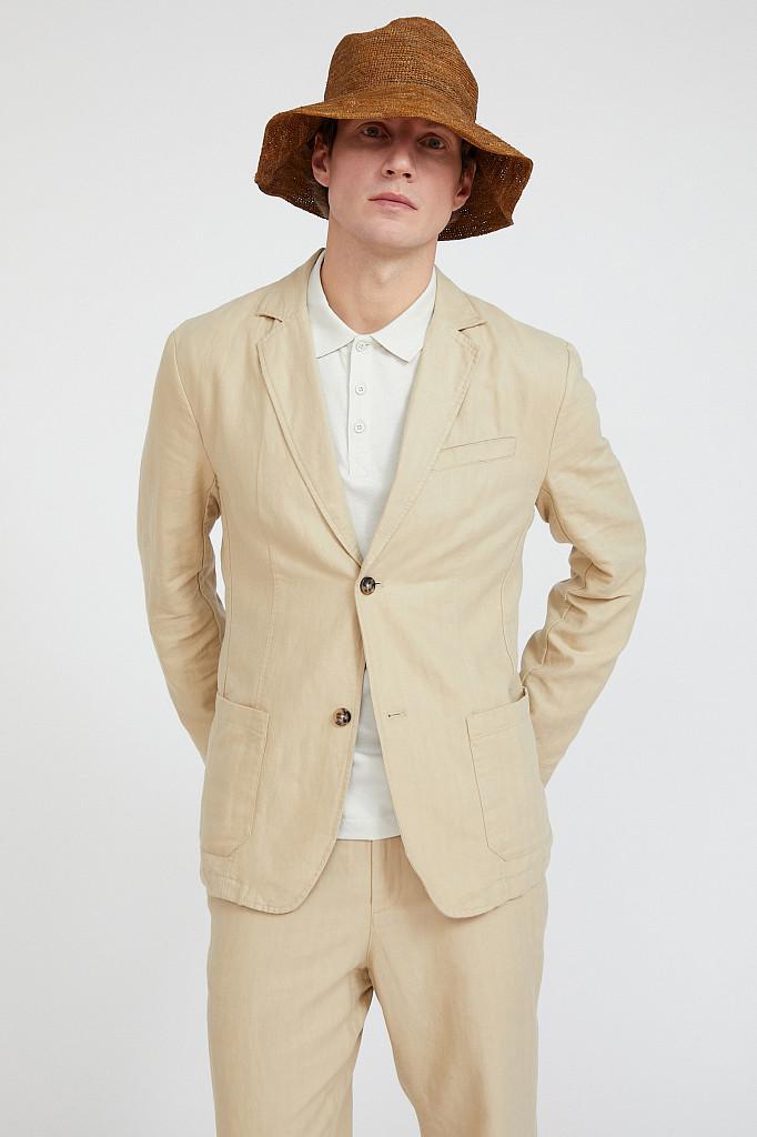 Пиджак мужской Finn Flare, цвет песочный, размер M - фото 1