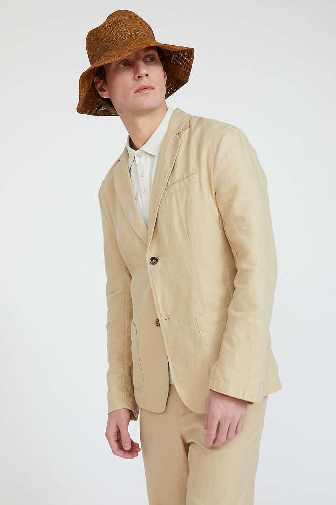 Пиджак мужской Finn Flare, цвет песочный, размер M - фото 3