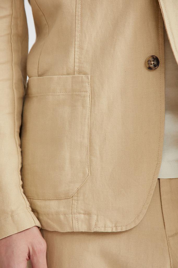 Пиджак мужской Finn Flare, цвет песочный, размер M - фото 5