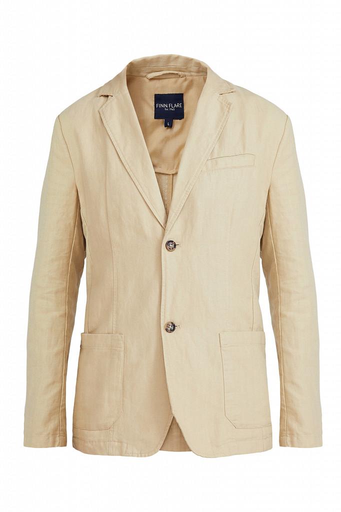 Пиджак мужской Finn Flare, цвет песочный, размер M - фото 6